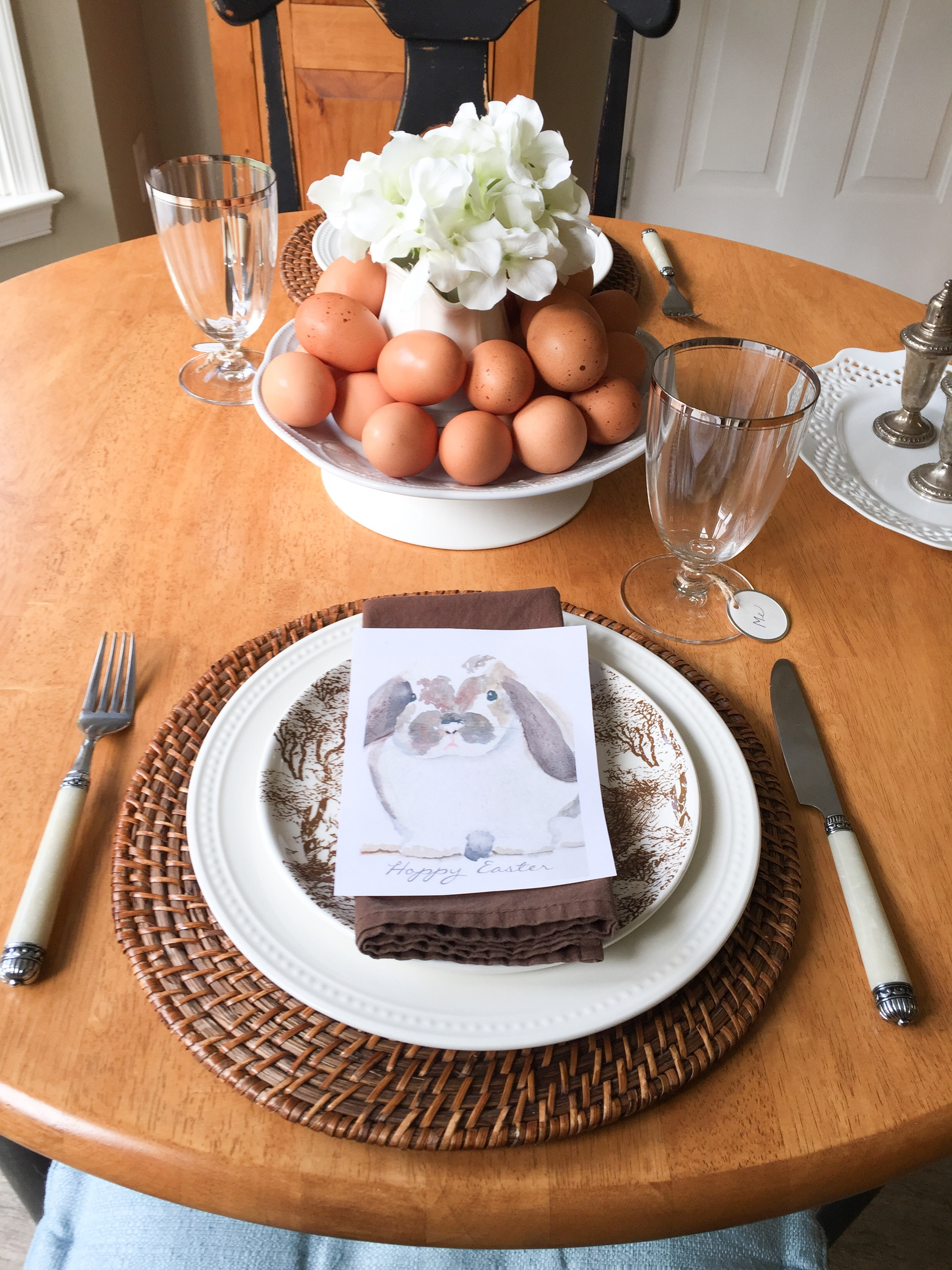 Simple Easter Table For Two
