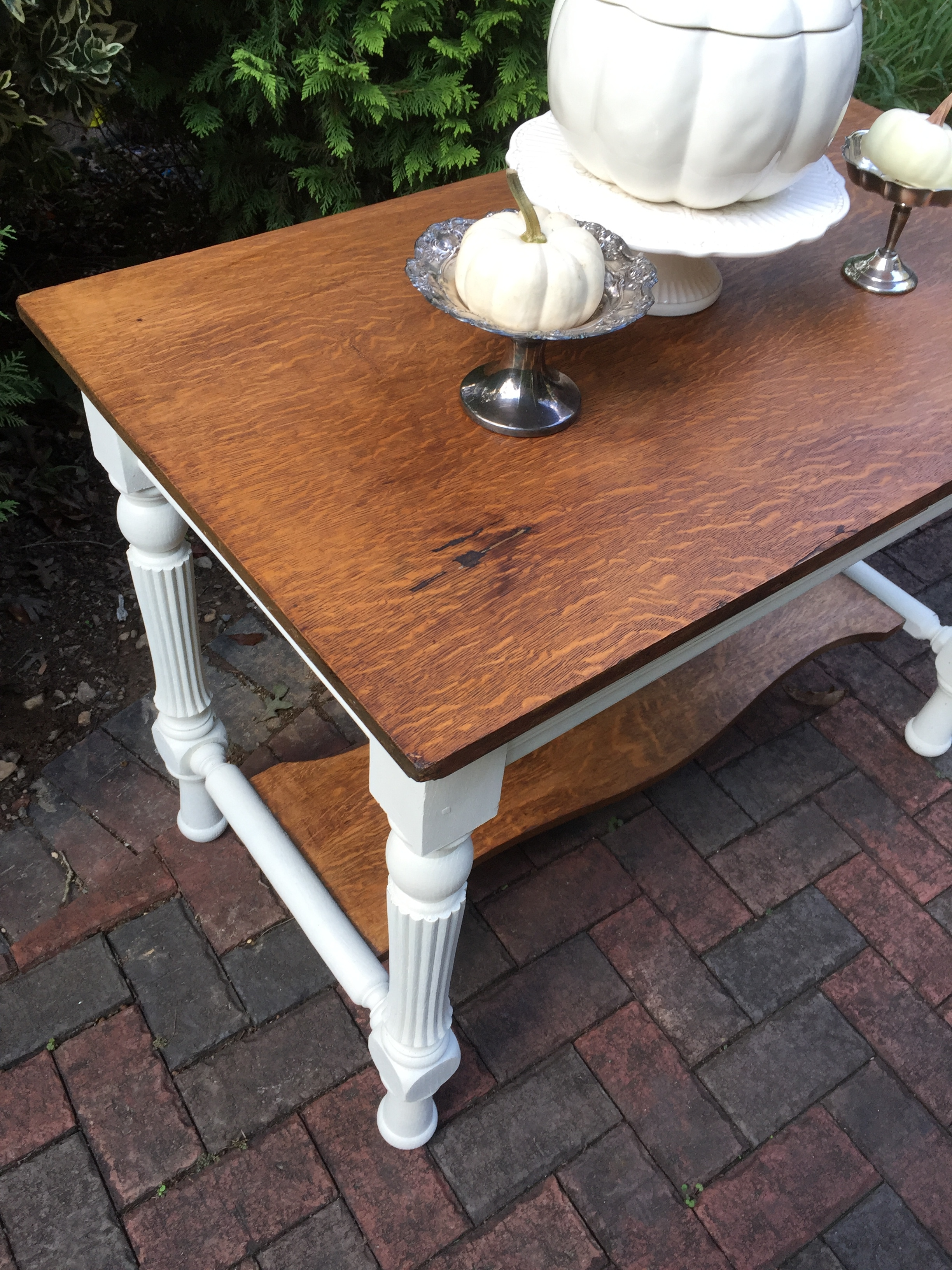 A Sweet Handmade Library Table
